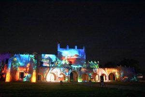 Lichtershow Kloster Valladolid