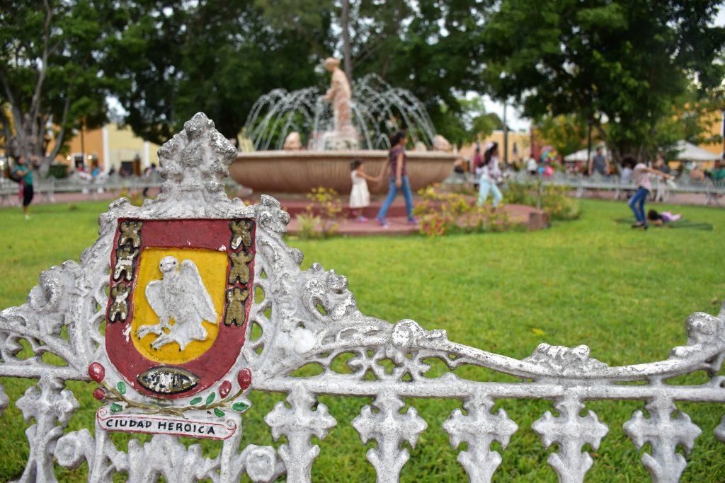Springbrunnen im Park von Valladolid