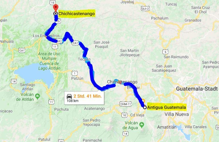 Route Antigua - Chichicastenango
