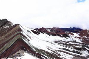 rainbow panorama im schnee