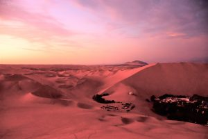Oase Huacachina sunset
