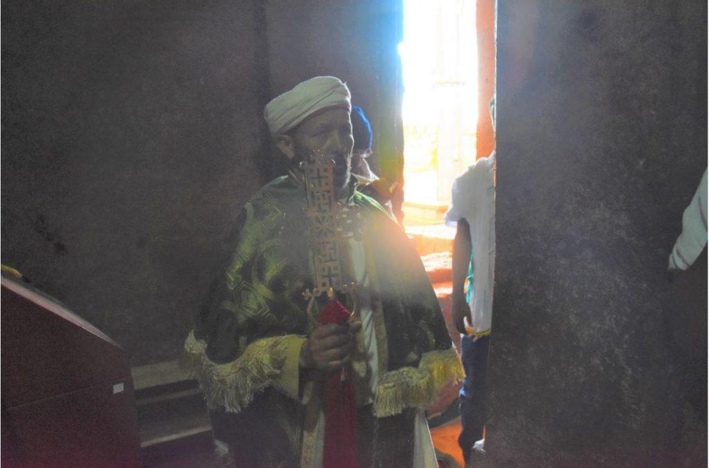 Felsenkirchen von Lalibela Segnung