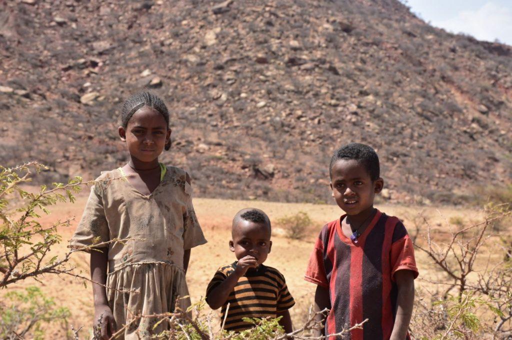Kinder bei Abuna Yemata