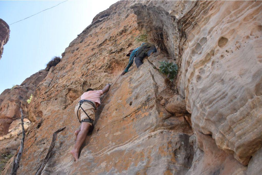 Markus klettert
