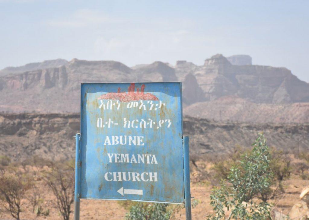 Schild Abuna Yemata