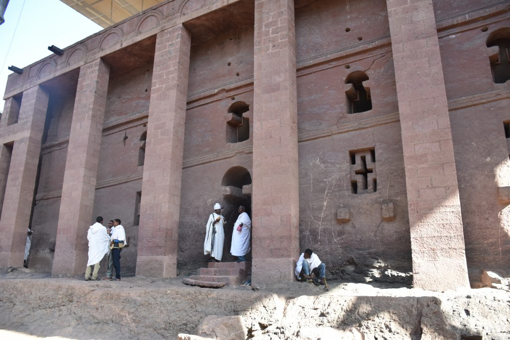 erste Felsenkirche Lalibela