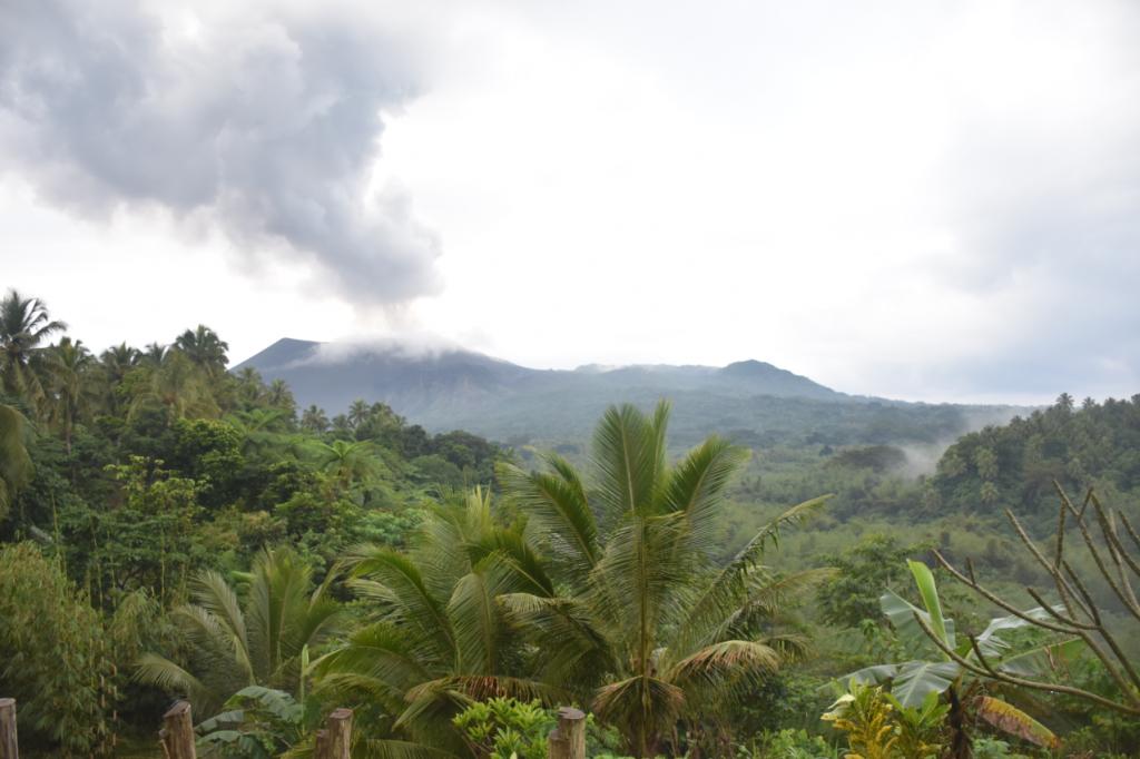 Blick auf Vulkan bei Tag