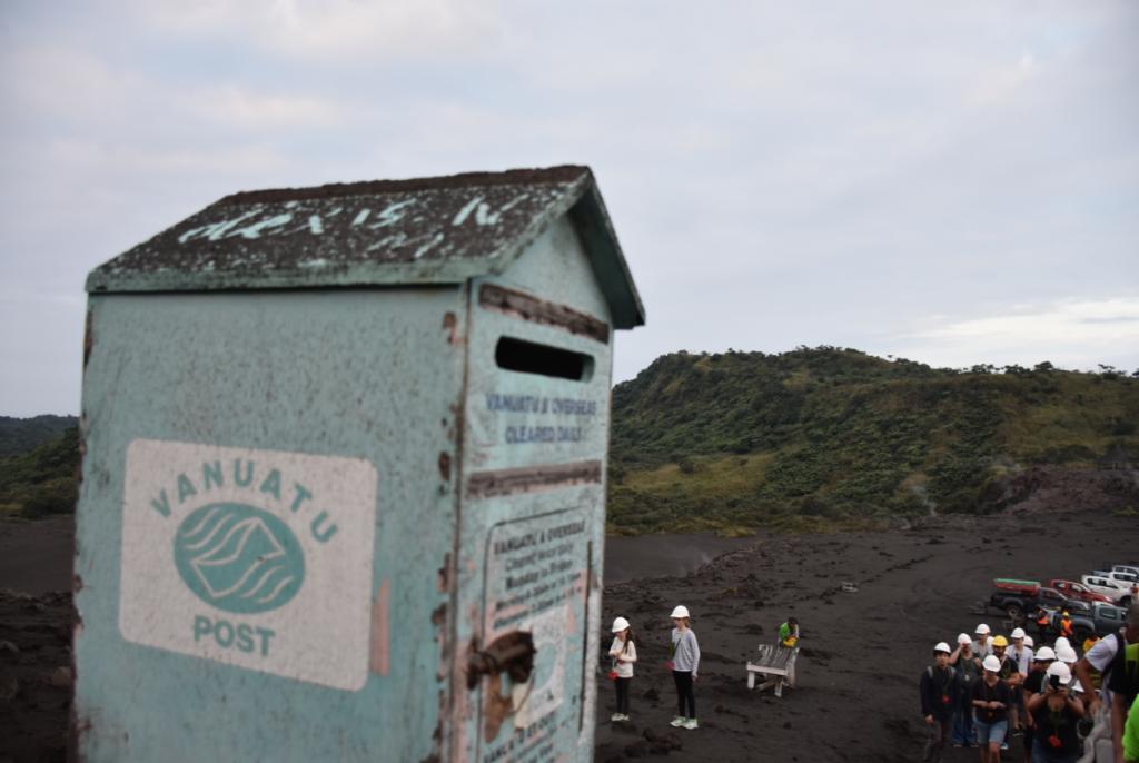Briefkasten Vulkan Yasur auf Tanna