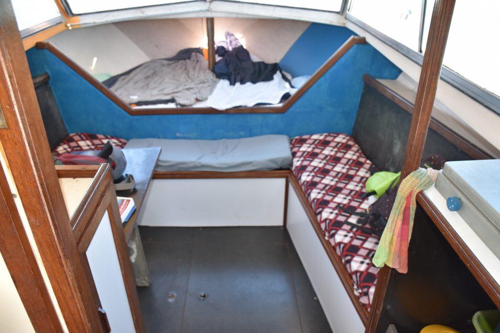 Schlafbereich Hausboot Noumea