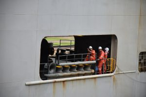 Arbeiter auf dem Panamakanal