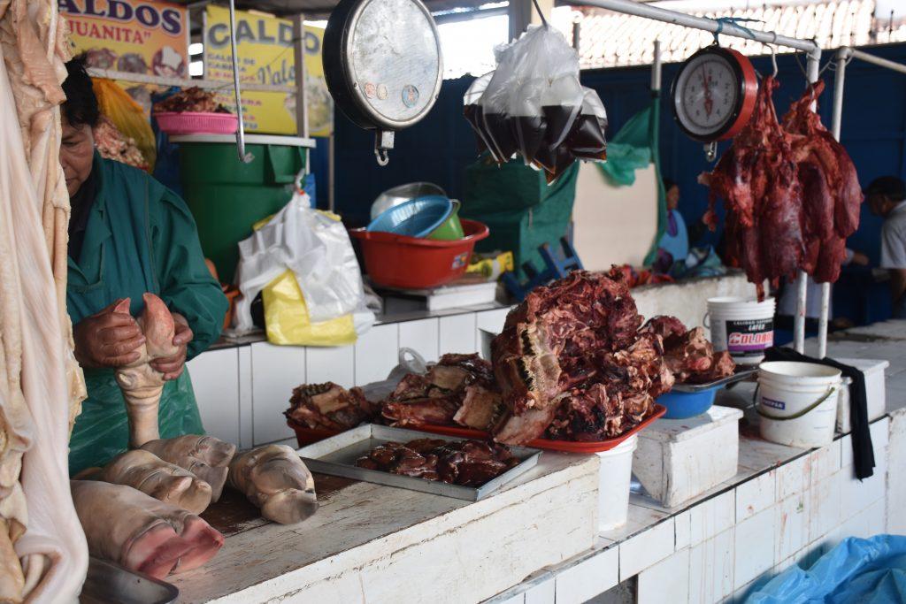 Innereien Markt Cusco