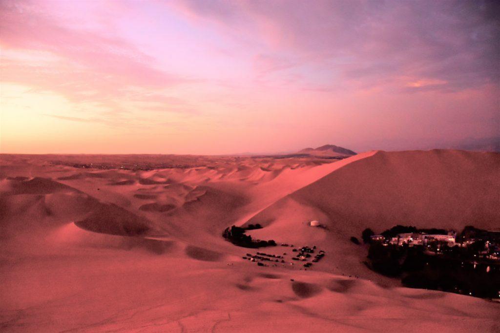 Oase Huacachina sunset