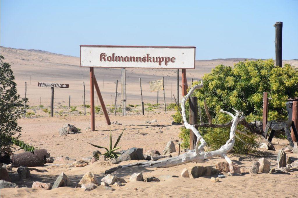 Schild Kolmanskop
